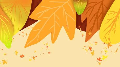 nền quảng cáo maple leaf rải rác trong tháng tám, Tháng 8, Mùa Thu Vàng, Tết Trung Thu Ảnh nền