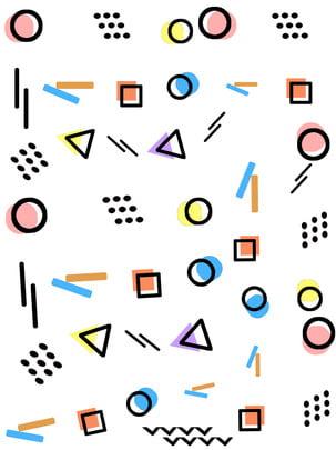 Memphis sáng tạo hình học chủ đề đơn giản nền Memphis Hình Học Hình Nền