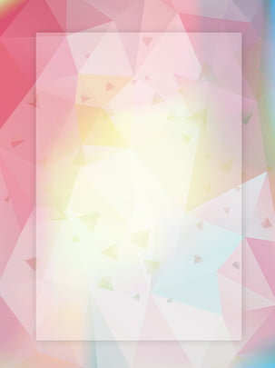 Micro Stereo Warm Beautiful Dreamy Pink Geometric Creative Polygonal Background, Abstract Background, Pink, Warm, Background image