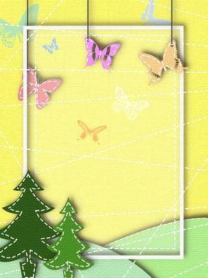 顕微鏡紙蝶フライングバックグラウンド , 微視的, 紙, カラフルな蝶 背景画像