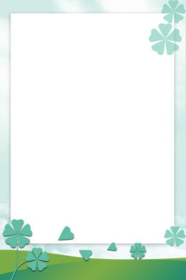 minimalist appropriate map paper cut wind clover , Poster, Green, Blue Sky Background image