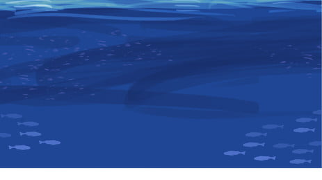 Minimalistic Blue Ocean Background Banner Background Material Ocean,sea,underwater World,fish Pond,blue,ocean,poster, Background, Psd, Background, Background image