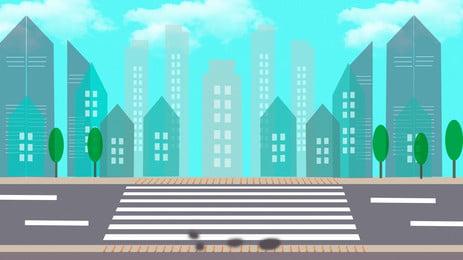 ミニマルな手描きのブルーストリート広告の背景, 広告の背景, 通り, 道 背景画像