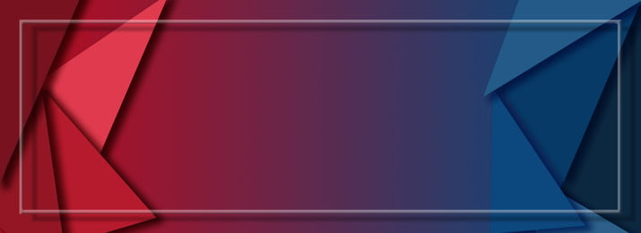 बैनर की पृष्ठभूमि पर मिनिमलिस्टिक लाल नीला बहुभुज, सरल, लाल, नीला पृष्ठभूमि छवि