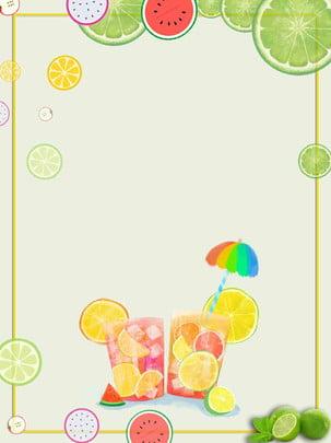 minimalistic summer fruit background illustration , Simple, Summer, Fruit Background image