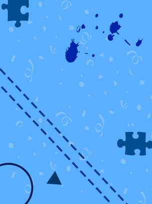 蒙斯風藍色背景 , 藍色, 蒙斯風, 形狀 背景圖片