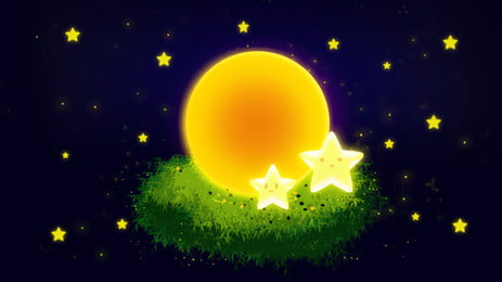 moonlight starry night background material, Moonlight, Star, Starry Sky Background image