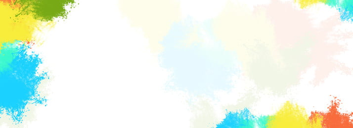 多色彩虹水彩潑墨背景, 多彩, 彩虹, 水彩 背景圖片