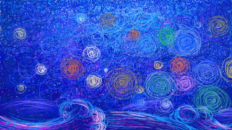 bahan gegelung multikolored multicolored, Gegelung Berbilang Warna, Latar Belakang Bulatan, Pelbagai Warna imej latar belakang