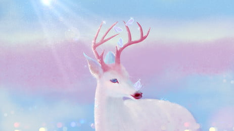 बहुरंगी फॉन बैनर पृष्ठभूमि डिजाइन, बहुरंगी पृष्ठभूमि, पशु, सफेद हिरण पृष्ठभूमि छवि