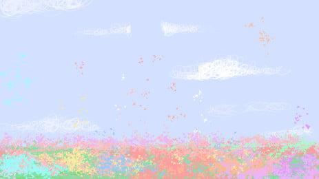 बहुरंगी हाथ से तैयार बैनर पृष्ठभूमि सामग्री, चित्रित, आबरंग, सरल पृष्ठभूमि छवि