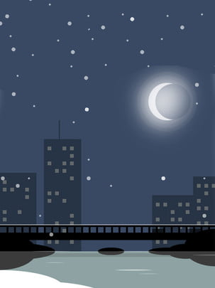 night city , Night, City, Small River Background image