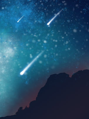 night sky between the mountains , Mountain, Night, Starry Sky Background image