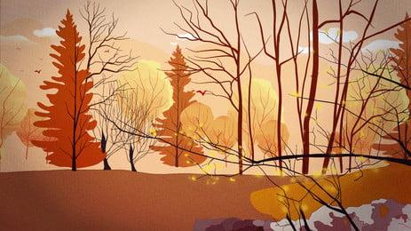 Tháng mười một rừng tuyết vật liệu nền poster Rừng Tuyết Chi Hình Nền