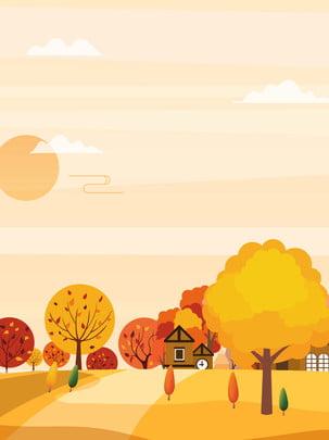 orange sáng mùa thu nền , Cam, Nhà Máy, Cây To Ảnh nền