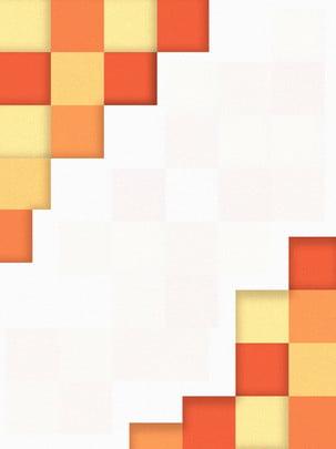 橙色漸變幾何方塊背景 , 創意, 漸變, 幾何 背景圖片