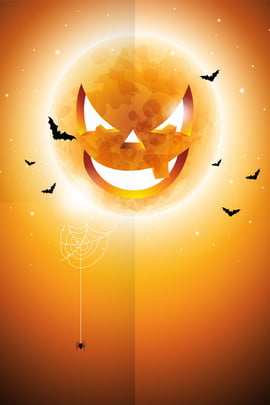orange halloween pumpkin prom , Poster, Bat, Orange Background image