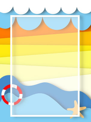 origami seaside summer background , Origami, Summer, Seaside Background image