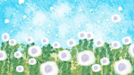 美しい花と海のbanner背景素材を描きました Bunerの背景 Pspd背景 アイデアの背景 背景画像