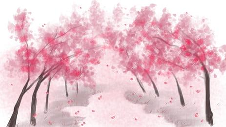 桜園bannerの背景素材 背景デザイン Pspd背景 創意バンク 背景画像