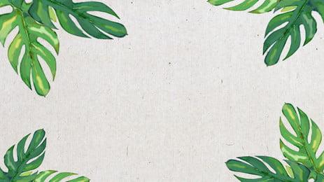 चित्रित कोने उष्णकटिबंधीय पत्तियों पृष्ठभूमि सामग्री, ग्रीन, पेड़ की पत्ती, पत्ती पृष्ठभूमि छवि