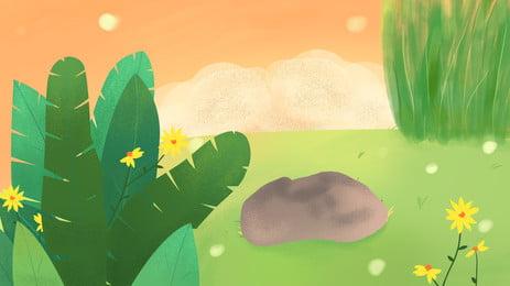 sơn nền lá chuối, Hoa, Đồng Cỏ, Màu Xanh Ảnh nền