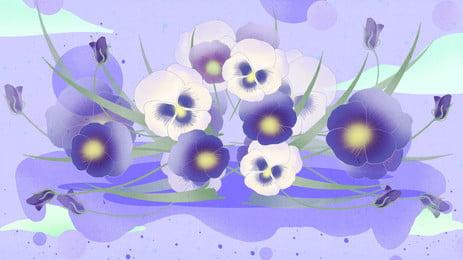 Flores roxas pintadas banner material de fundo Flor Roxo Fundo do cartaz Fundo Do Cartaz Fundo Imagem Do Plano De Fundo