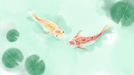 Phần sơn lễ hội mùa hè lá sen vật liệu nền ao cá Ao Cá Ao Hình Nền