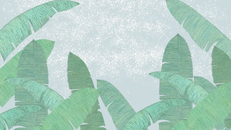 चित्रित ग्रीष्मकालीन केला पत्ता पृष्ठभूमि सामग्री, हरी पत्ती, केले का पत्ता, पोस्टर पृष्ठभूमि पृष्ठभूमि छवि