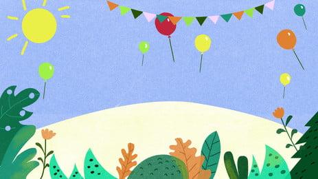 Sơn ngày của giáo viên bunting sun balloon chất liệu nền Bunting Mặt Trời Hình Nền