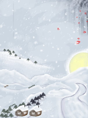 Sơn mùa đông tuyết vật liệu Tuyết Rơi Dày Hình Nền
