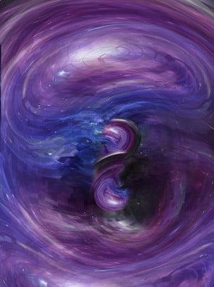 平行宇宙鏡面科技風 , 漸變, 對稱, 立體 背景圖片