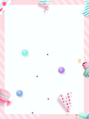 pink background sweet warm beautiful , Cartoon, Candy, Donut Background image