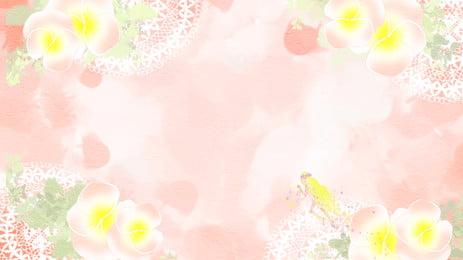 गुलाबी फूल सजावट पृष्ठभूमि सामग्री, गुलाबी, सुंदर, कार्टून पृष्ठभूमि छवि