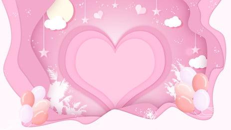 Rosa pendurado ornamento coração padrão colorido balões cartoon fundo Pink Ornamento de suspensão Forma Pink Ornamento Suspensão Imagem Do Plano De Fundo