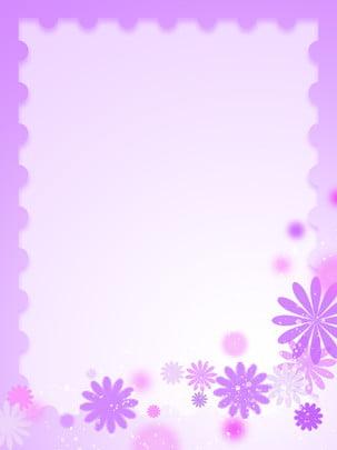 粉色紫色花朵方框背景 , 粉色, 紫色, 邊框 背景圖片