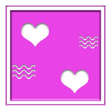핑크 로맨틱 한 사진 발렌타인 데이 중공 효과 배경 자료 , 포토 프레임, 사랑, 빈 배경 이미지