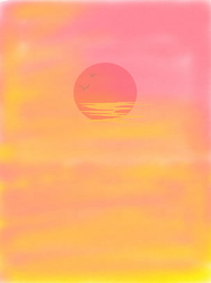 pink sunset smudge background , Bloom, Gradient, Sunset Background image