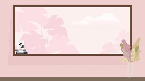 Pink Warm Home Decor Painting Illustration Background, Warm Background, Pink Background, Home, Background image