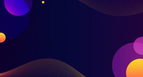 Atmosfera de tecnologia roxa Banner cartaz colorido Tecnologia Colorido Psicodélico Line Atmosfera De Tecnologia Imagem Do Plano De Fundo