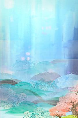 新鮮な雨水祭り絵 雨 梅雨 伝統的なソーラー用語 春 梅雨 春の雨 雨が降っている 小雨 ドリズル 雨 新鮮な くつろぐ , 新鮮な雨水祭り絵, 雨, 梅雨 背景画像
