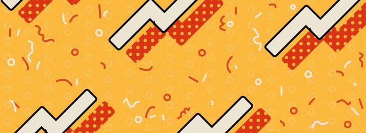 Biểu ngữ hình học vui nhộn màu đỏ và vàng Đỏ Vàng Đỏ Hình Nền