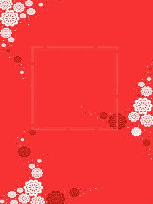 紅色中國風梅花背景 , 紅色, 白色, 中國風 背景圖片