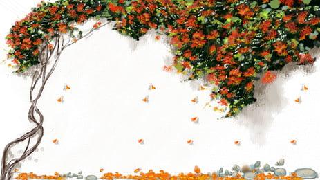 Red Flower Teng Hình Nền