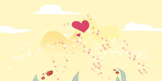 latar belakang awan putih berbentuk hati berwarna merah, Merah, Bentuk Jantung, Mosaic imej latar belakang