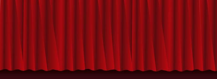 red banner sân khấu nền, Đỏ, Giai đoạn, Rèm Ảnh nền