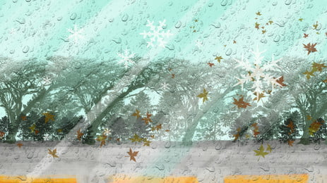 Roadside trees illustration background design, Cartoon Background, Hand Painted Background, Illustration Background Background image