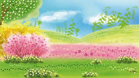 रोमांटिक ताजा वन विज्ञापन पृष्ठभूमि, विज्ञापन की पृष्ठभूमि, उद्यान, वन पृष्ठभूमि छवि