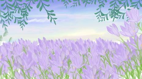 hoa oải hương lãng mạn vẽ tay, Lãng Mạn, Đẹp, Vẽ Tay Nền Ảnh nền