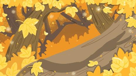 lãng mạn maple leaf nổi nền quảng cáo, Nền Quảng Cáo, Tươi, Nhà Máy Ảnh nền
